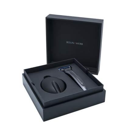 Подарочный набор Bolin Webb R1 бритва X1 карбон + подставка X1 черная