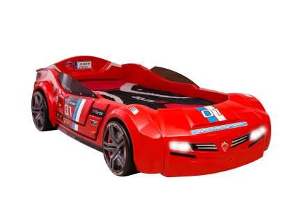 Кровать-машина Cilek Carbed BiTurbo красная 90х195