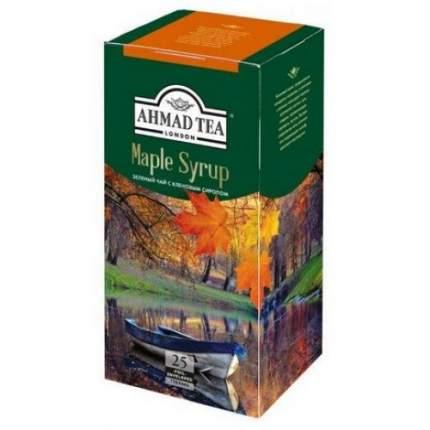 Чай зеленый Ahmad Tea кленовый сироп 25 пакетиков
