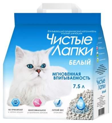 Впитывающий наполнитель туалета для кошек Чистые лапки белый пористый 7,5 л 2,8 кг