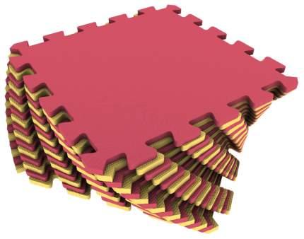 Мягкий коврик Экопромторг универсальный желто-красный, 16 элементов