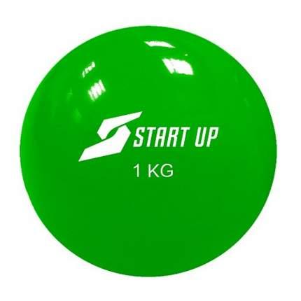 Мяч массажный Start Up NT18024, зеленый, 11 см