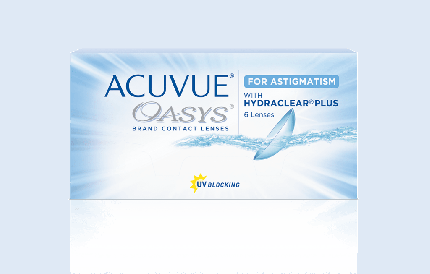 Контактные линзы Acuvue Oasys for Astigmatism with Hydraclear Plus 6 линз 0,00/-1,25/20