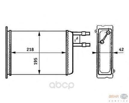 Радиатор отопителя HELLA 8FH351313371