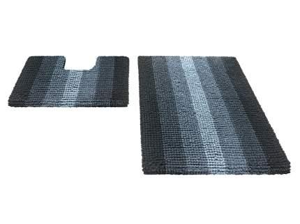 Набор ковриков для ванной MULTIMAKARON черный, SHAHINTEX