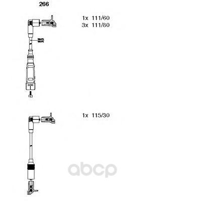 Комплект высоковольтных проводов BREMI 266