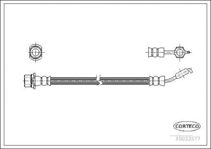 Шланг тормозной CORTECO 19033577