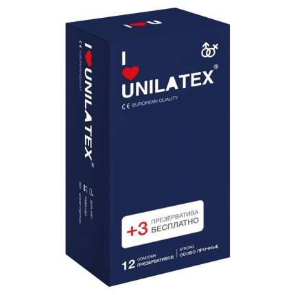Презервативы Unilatex Extra Strong 12+3 шт.