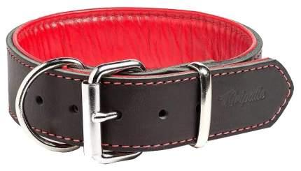 Ошейник для собак Gripalle Остин 30 - 40S кожаный с мягкой красной подкладкой 70809