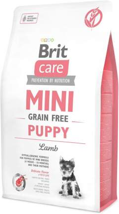 Сухой корм для щенков Brit Care Mini Grain Free Puppy, для мелких пород, ягненок, 2кг