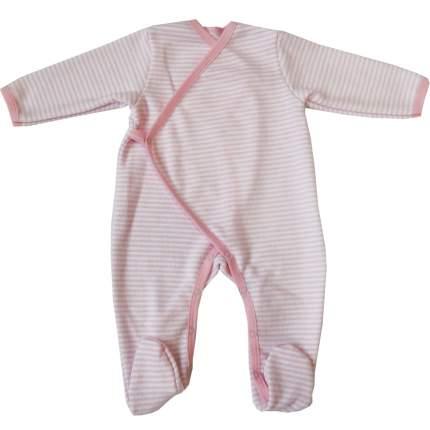 Комбинезон Папитто с начесом розовая полоска р.20-62 49-524