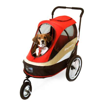 Коляска для собак  UP! 62x91x95см черный, красный, бежевый