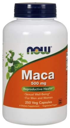 Бустер тестостерона NOW Maca 500 мг 250 капсул