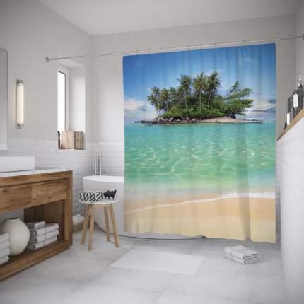 Шторка для ванной JoyArty «Остров к морю» 180x200 см