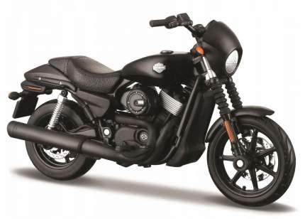 Коллекционный мотоцикл Maisto 1:12 Harley Davidson Street 750 2015 года, черный