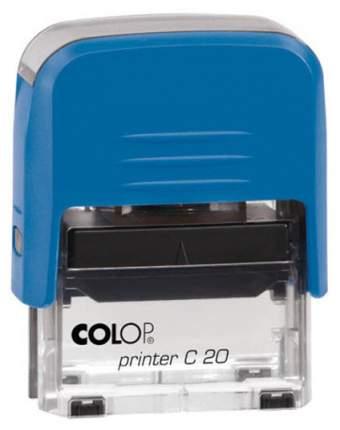 Оснастка для печати Colop C20 Compact Transparent. Цвет корпуса: синий.