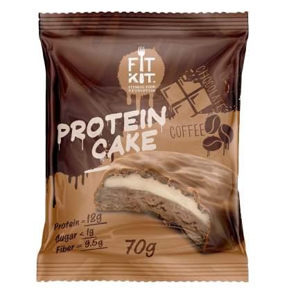 Fit Kit Protein Cake 70 г (вкус: шоколад-кофе) Протеиновое печенье