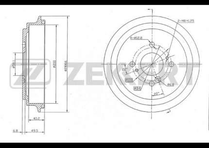 Тормозной барабан ZEKKERT BS-5130