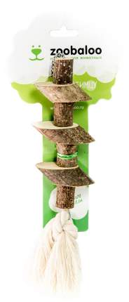 Игрушка для птиц Zoobaloo Брусочки с канатом, 25 см