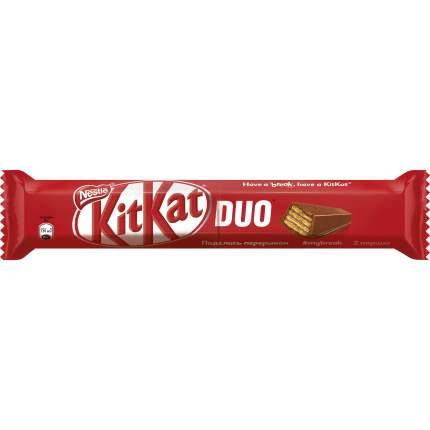 Шоколадный батончик Kit-Kat duo молочный с хрустящей вафлей 58 г