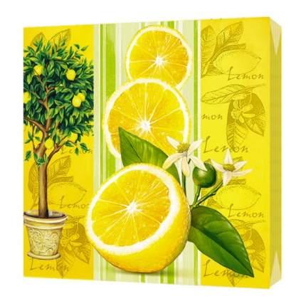 "2016 Салфетки Bulgaree Green ""Лимон"" 33*33, 3 слоя, 20 шт."