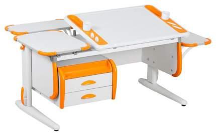 Парта Дэми Techno СУТ-31-05 с тумбой, задней и боковой приставкой 04952-2 Белый/Оранжевый