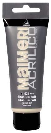 Акриловая краска Maimeri Acrilico M0916023 титан желтый 75 мл