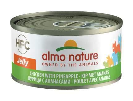 Консервы для кошек Almo Nature HFC Jelly, курица и ананас,70г