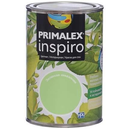 Краска для внутренних работ Primalex Inspiro 1л Зел. Амазония, 420158