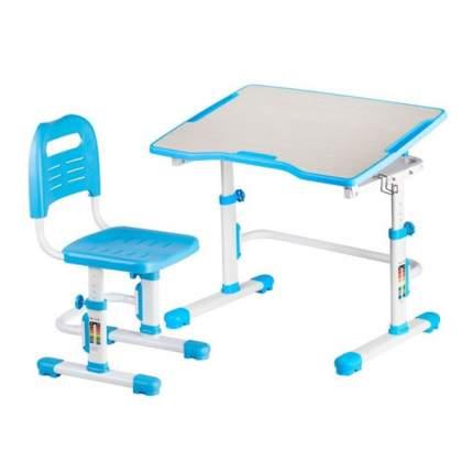 Комплект парта и стул трансформеры Fundesk Vivo 2 голубой, белый,