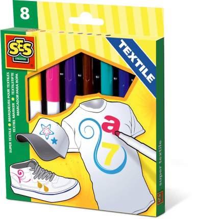 Фломастеры по текстилю SES Creative 8 цветов 00269