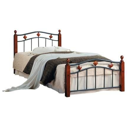 Кровать односпальная TetChair AT-126 90х200 см, красный/черный