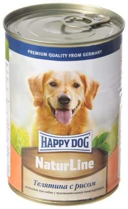 Консервы для собак Happy Dog NaturLine, с телятиной и рисом, 400г