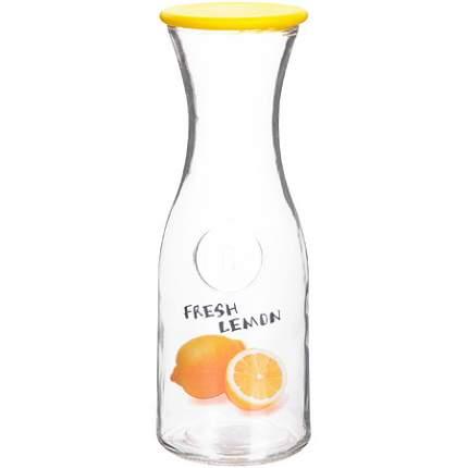 Бутылка стеклянная 1 литр желтая LR (х12)