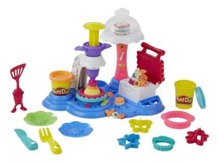 Набор для лепки из пластилина play-doh сладкая вечеринка b3399