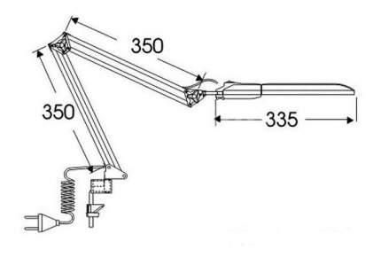 Настольный светильник Трансвит Дельта1 черный G23 11 Вт струбцина