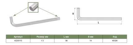 Торцевой Г-образный ключ JONNESWAY H22S115