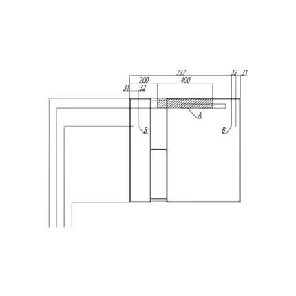Шкаф-зеркало для ванной Акватон Марко 80, белый (1A181102MO010)