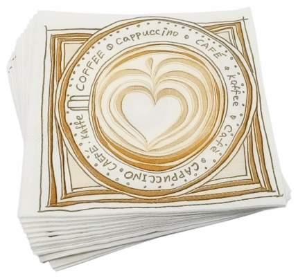 Бумажные салфетки Pa-Pino сappuccino двухслойные 24*24 см 70 штук
