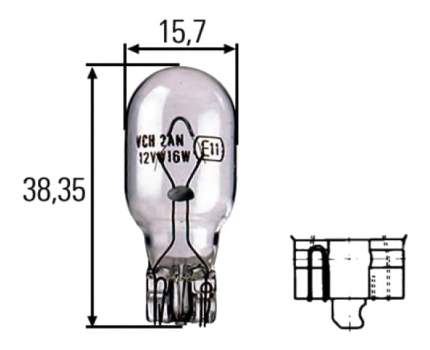 Лампа Hella 16W W2.1x9.5d 8GA 008 246-001