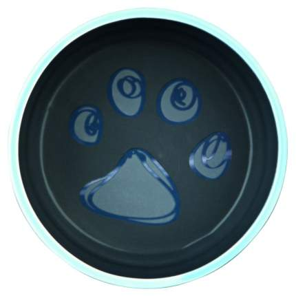 Одинарная миска для собак TRIXIE, керамика, синий, желтый, 0,4 л