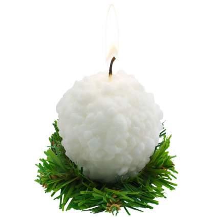 Свеча новогодняя Омский свечной завод 6019 Снежок 6,5 см