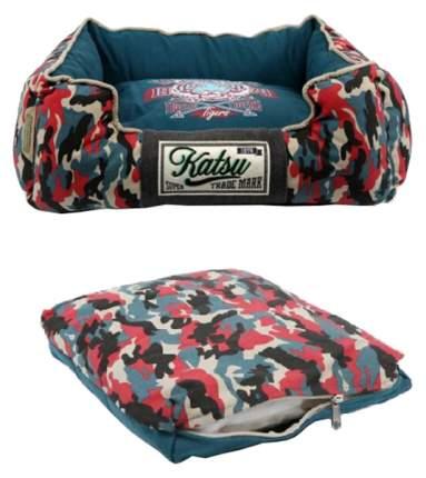 Лежанка для кошек и собак Katsu 35x45x21см синий, черный, красный, белый