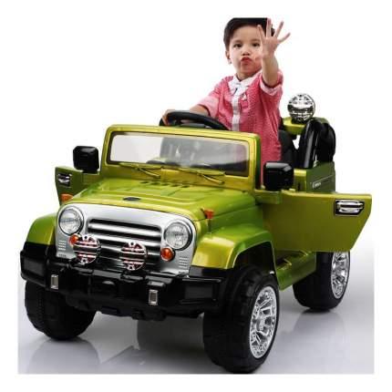 Электромобиль 1TOY Джип зеленый т11035
