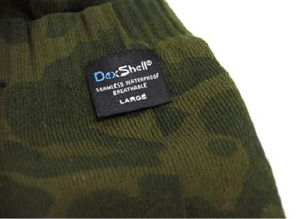 Носки DexShell Waterproof Camouflage 2017 зеленые/серые, размер 36-38