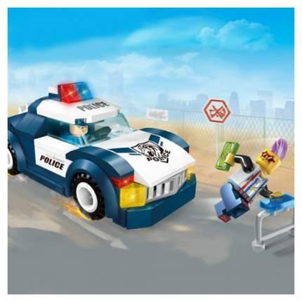 Конструктор пластиковый Enlighten Brick Машина Полиция с фигурками 111 деталей BRICK1901