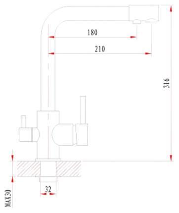 Смеситель для кухонной мойки Granula GR-2015 классик