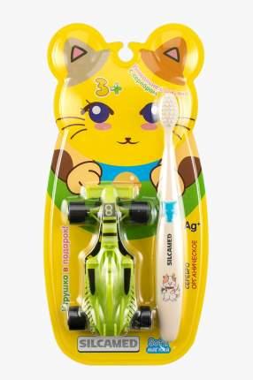 Набор Silcamed зубная щетка+мягкая игрушка