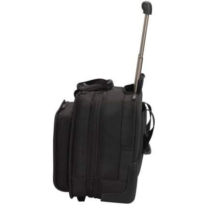 Дорожная сумка кожаная Victorinox Architecture 3.0 Rolling Parliament черная 43 x 26 x 36