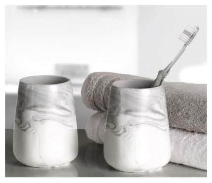 Стакан для зубных щёток Kleine Wolke Marble керамика Мраморный